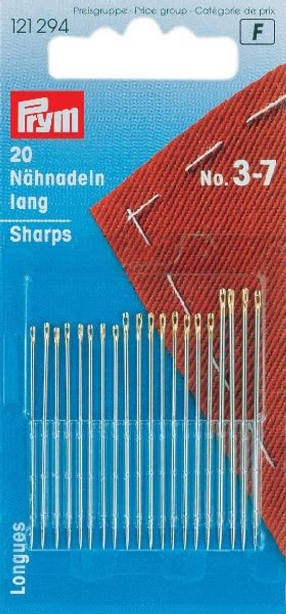 Prym Synåler Sharps No.3-7 - 20stk