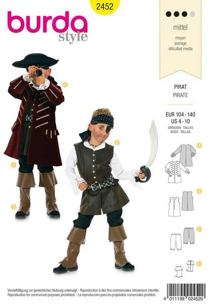 Bilde av Burda Mønster Kids B2452 Pirate Costume Sewing