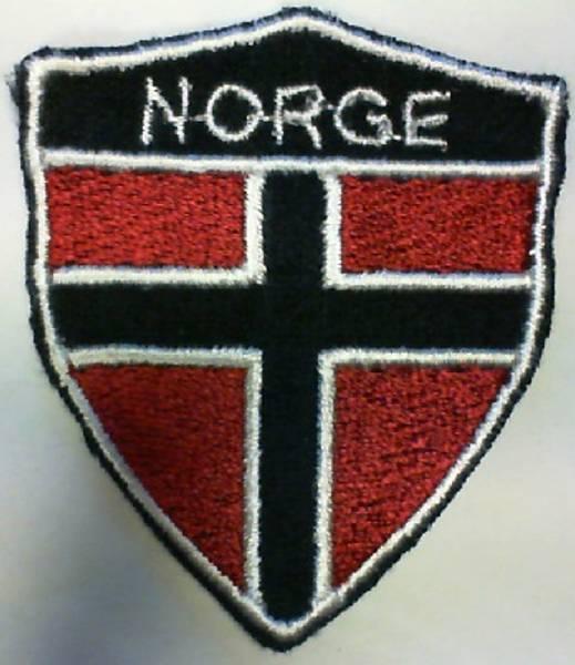 Bilde av (3L9) Norsk flagg brodert 55x47mm