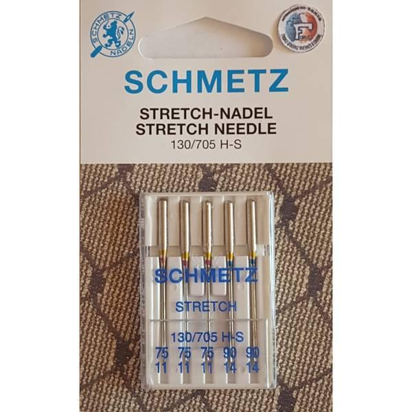 Bilde av (23E24) Nåler Stretch H-S 75-90 sortert 5-pakk SCHMETZ