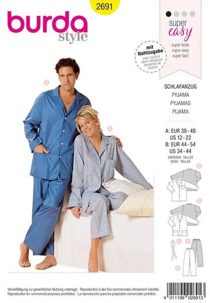 Bilde av Burda Mønster B2691 Pyjamas Sewing