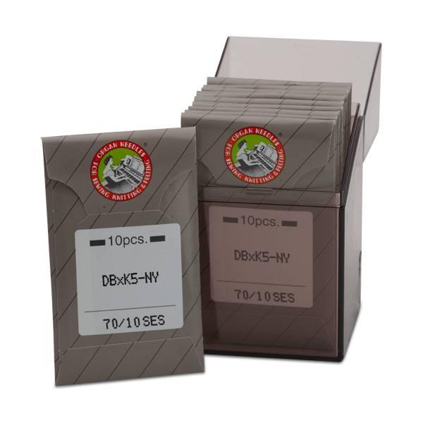 Bilde av (2P14B) Nåler 70/10 SES DBxK5 - 1 pk a 10 stk nåler industri