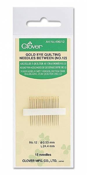 Bilde av (5A28)Golden Eye Quilting Needles Between no12 Clover 496/12