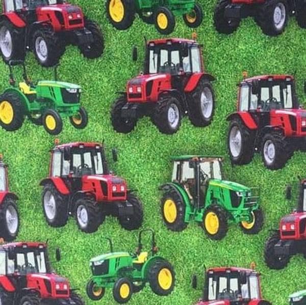 Bilde av Traktor på gress
