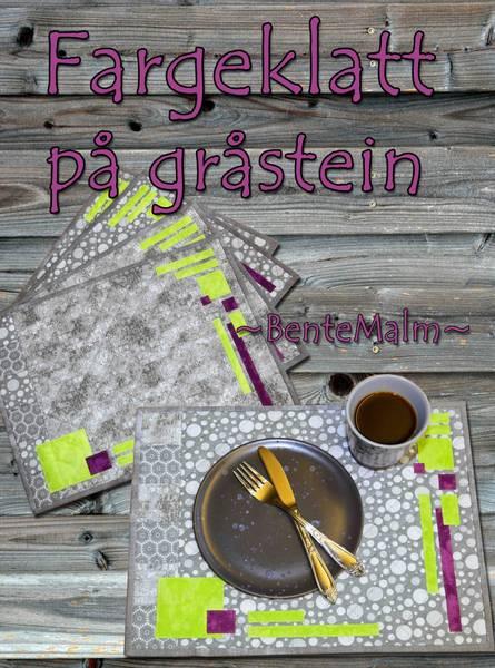 Bilde av 205 Bente Malm Mønster Fargeklatt på gråstein