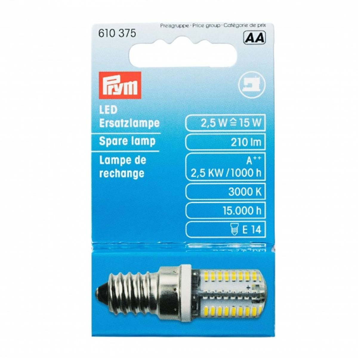 Prym lyspære til symaskin - LED skru 610375