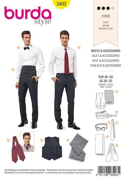 Bilde av Simplicity B3403 , Vest & Accessories Sewing