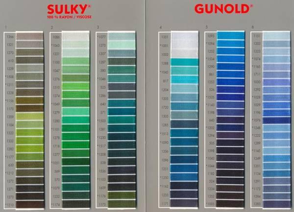 Bilde av Fargekart Sulky 100 % Rayon med ekte tråd