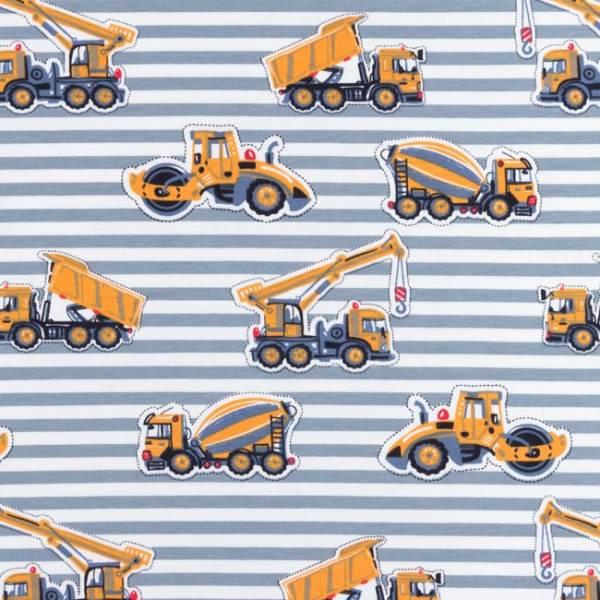 Bilde av Anleggsmaskiner med grå striper