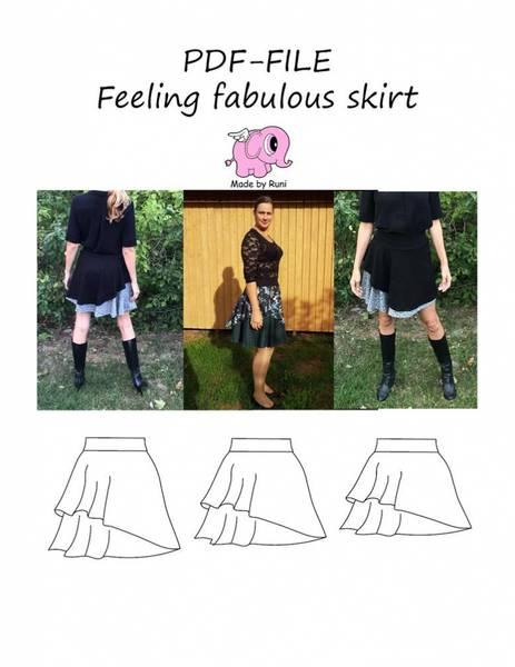 Bilde av Made by Runi - Feeling Fabulous Skirt str.34-54