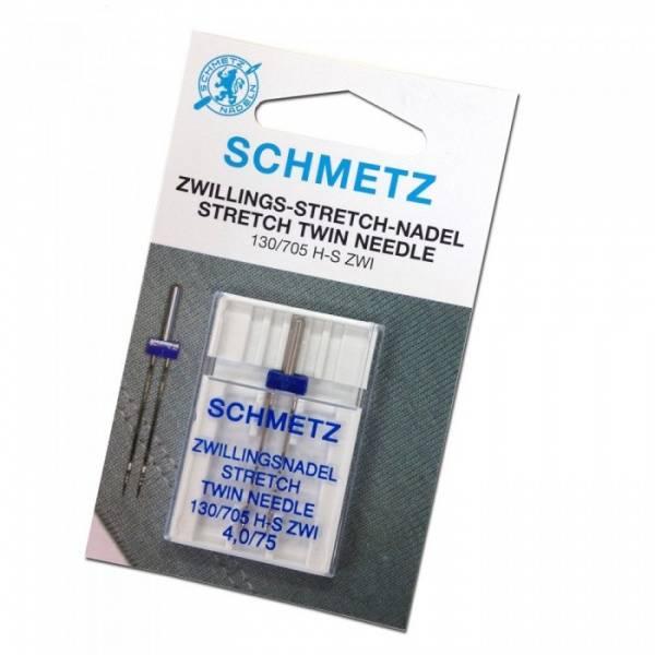 Bilde av (23F40) Schmetz tvillingnåler 4,0/75 2stk stretch H-S ZWI
