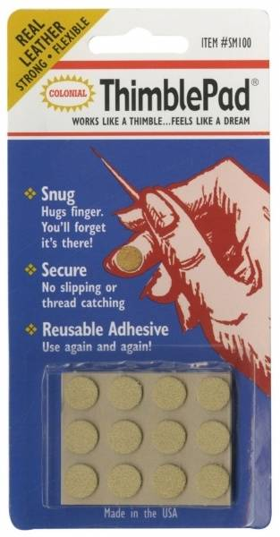 Bilde av (6) ThimblePad, Selvklebende fingerbeskytter i lær.