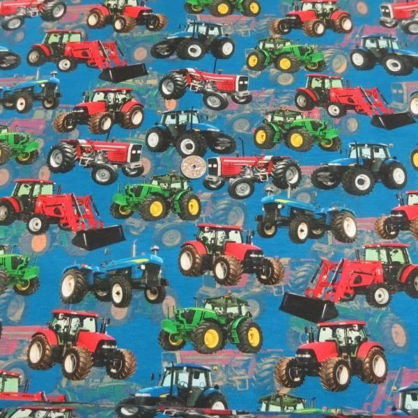 Bilde av Traktor på blå bakgrunn