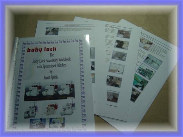 Bilde av (4F5) BabyLock Accessory Workbook by Janet