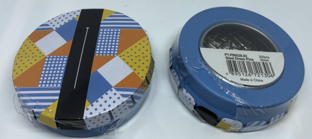 Knappenåler i box 30mm 100stk (blå box)
