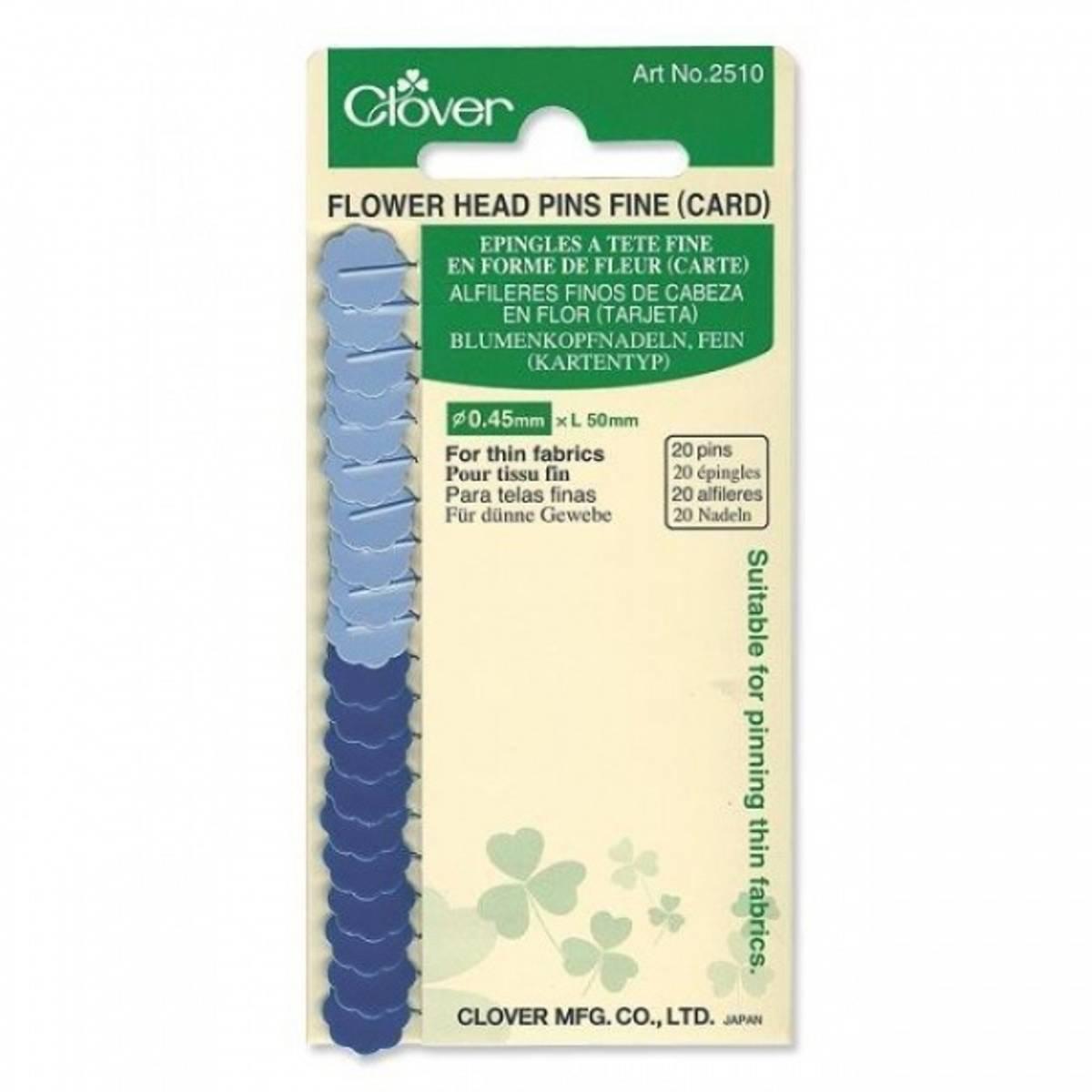 (5) Clover Flower Head Pins Fine 2510