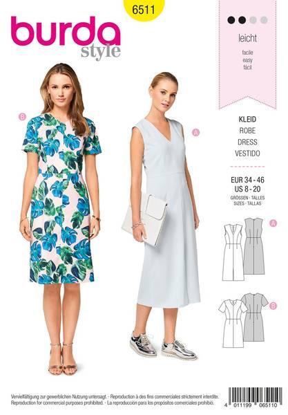 Bilde av Burda Mønster   B6511 Women's' V-neck Dress