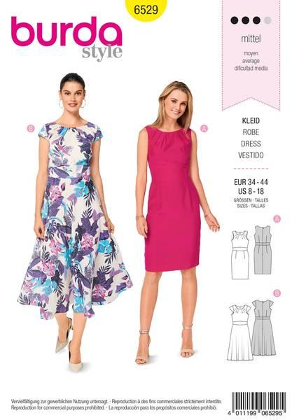 Bilde av Burda Mønster   B6529 Women's' Short Sleeve Dress