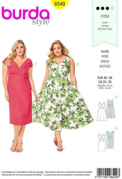 Bilde av Burda Mønster   B6549 Women's Short Sleeve Dress