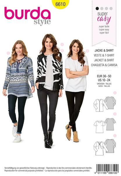 Bilde av Burda Mønster   6610 Jacket & Shirt