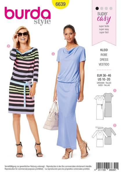 Bilde av Burda Mønster B6639 Women's Dress Sewing