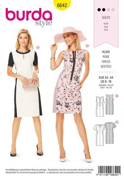 Bilde av Burda Mønster B6642 Women's Dress Sewing