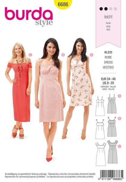 Bilde av Burda Mønster B6686 Women's Dress Sewing