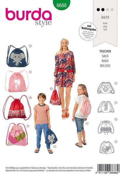 Bilde av Burda Mønster B6688 Bags Sewing