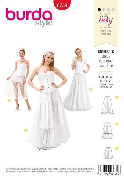 Bilde av Burda Mønster B6739 Women's Petticoat Sewing