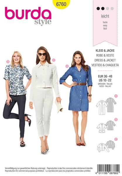 Bilde av Burda Mønster B6760 Dresses Sewing