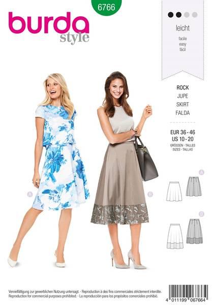 Bilde av Burda Mønster B6766 Skirts Sewing