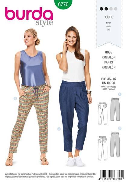 Bilde av Burda Mønster B6770 Trousers, Jumpsuits Sewing