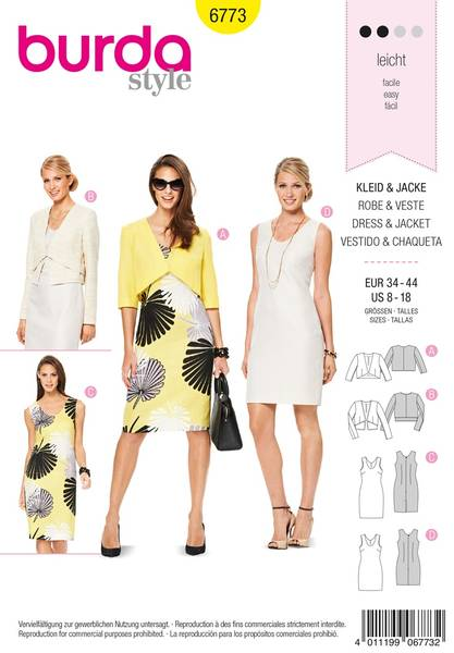 Bilde av Burda Mønster B6773 Coordinates, Trousersuits, Suits Sewing