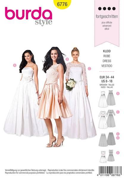 Bilde av Burda Mønster B6776 Evening & Bridal Wear Sewing