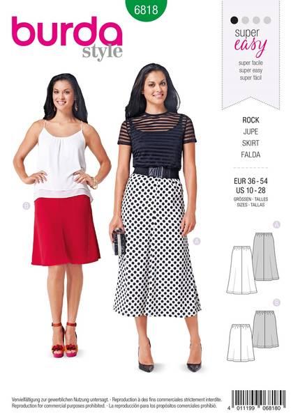 Bilde av Burda Mønster B6818 Skirts Sewing