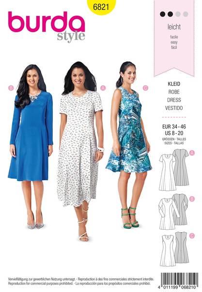 Bilde av Burda Mønster B6821 Dresses Sewing
