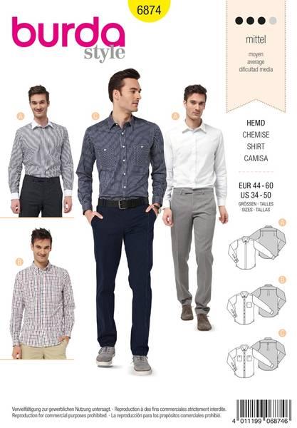 Bilde av Burda Mønster B6874 Menswear Sewing