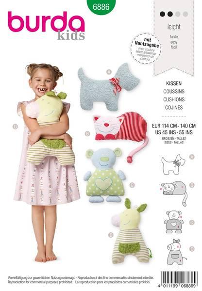 Bilde av Burda Mønster B6886 Doll Clothes Sewing