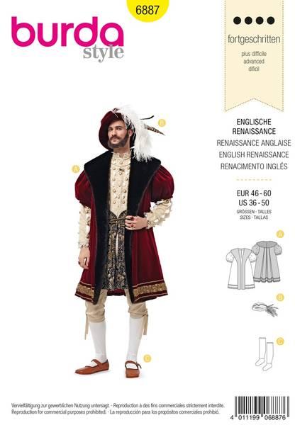 Bilde av Burda Mønster B6887 Burda Mønster historical costumes Sewing