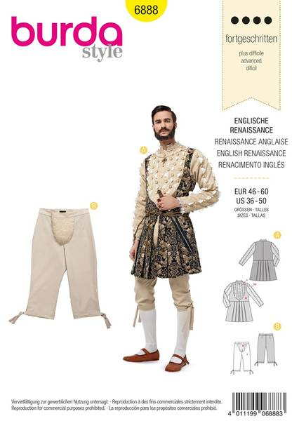 Bilde av Burda Mønster B6888 Historical Sewing