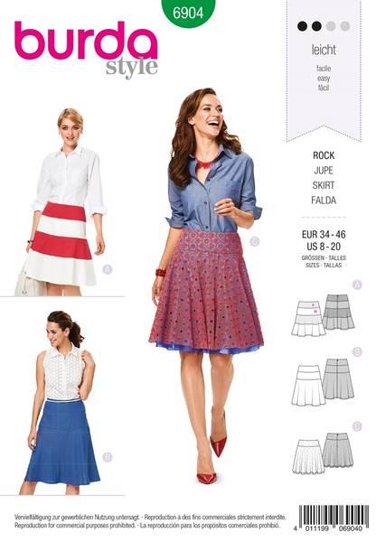 Bilde av Burda Mønster B6904 Burda Mønster Skirts Sewing