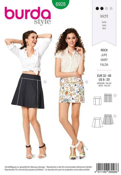 Bilde av Burda Mønster B6928 Burda Mønster Skirts Sewing