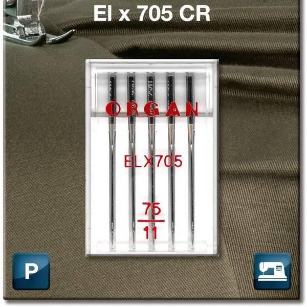 Bilde av (23G35) Nål Organ ELx705 5pakk 75/11 (2J16/2J9)