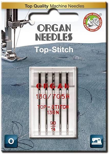Bilde av (23G21) Nål Organ Top Stitch 90, 5 pc