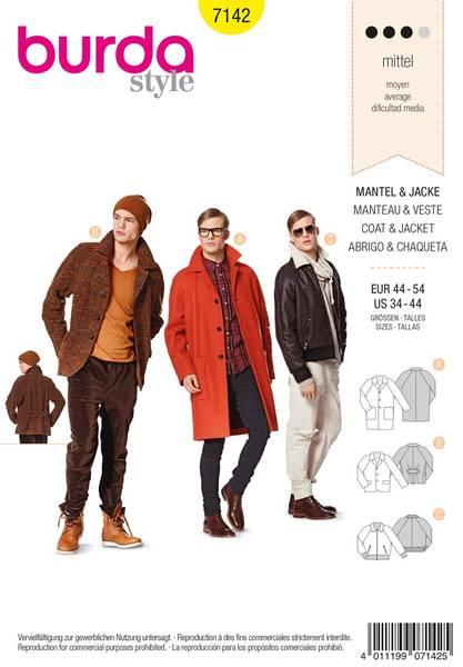 Bilde av Burda Mønster B7142 Coat &Jacket Sewing