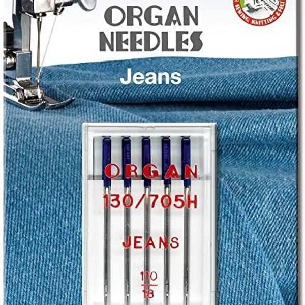 Bilde av (23F27) Nål Organ Jeans 110, 5 pk