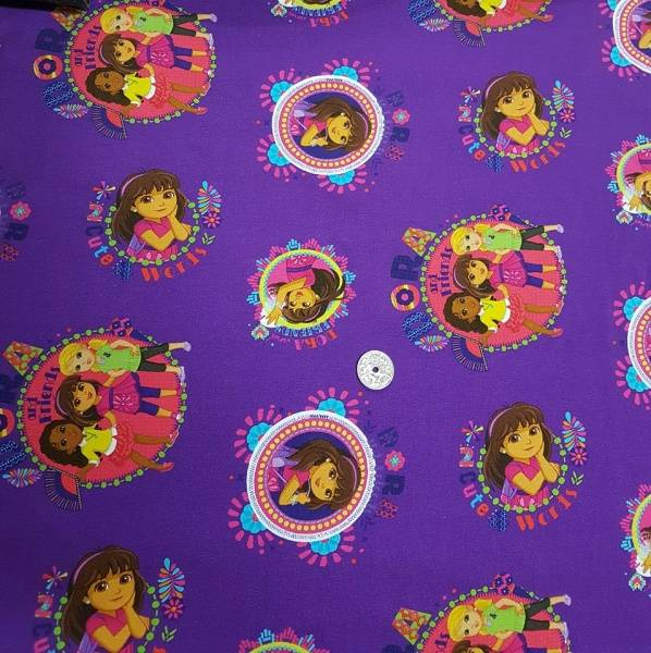 Bilde av Dora - lilla m motiv/ jersey
