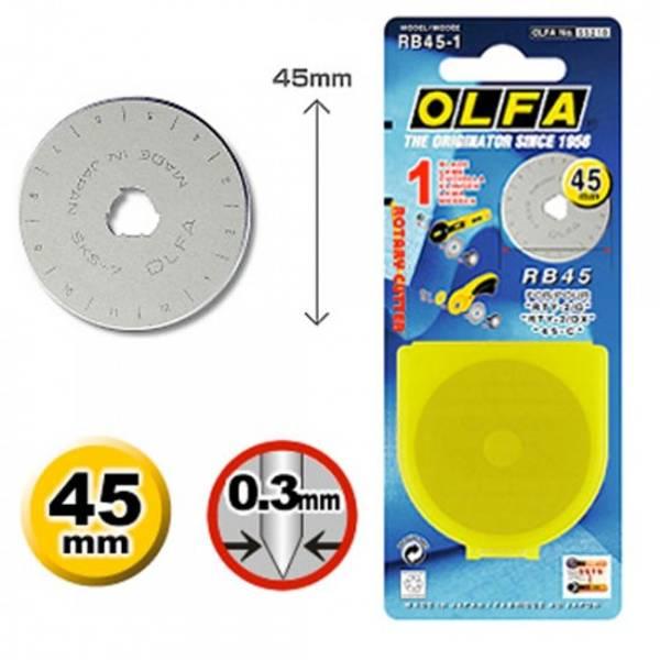 Bilde av Ekstra blad til 45mm rullekniv OLFA RB45-1 (2D13)