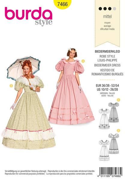 Bilde av Burda Mønster B7466 Biedermeier Dress Sewing
