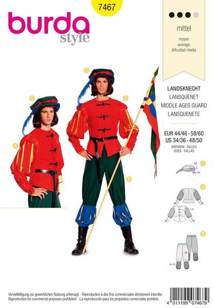 Bilde av Burda Mønster B7467 Middle Age Guard Costume Sewing